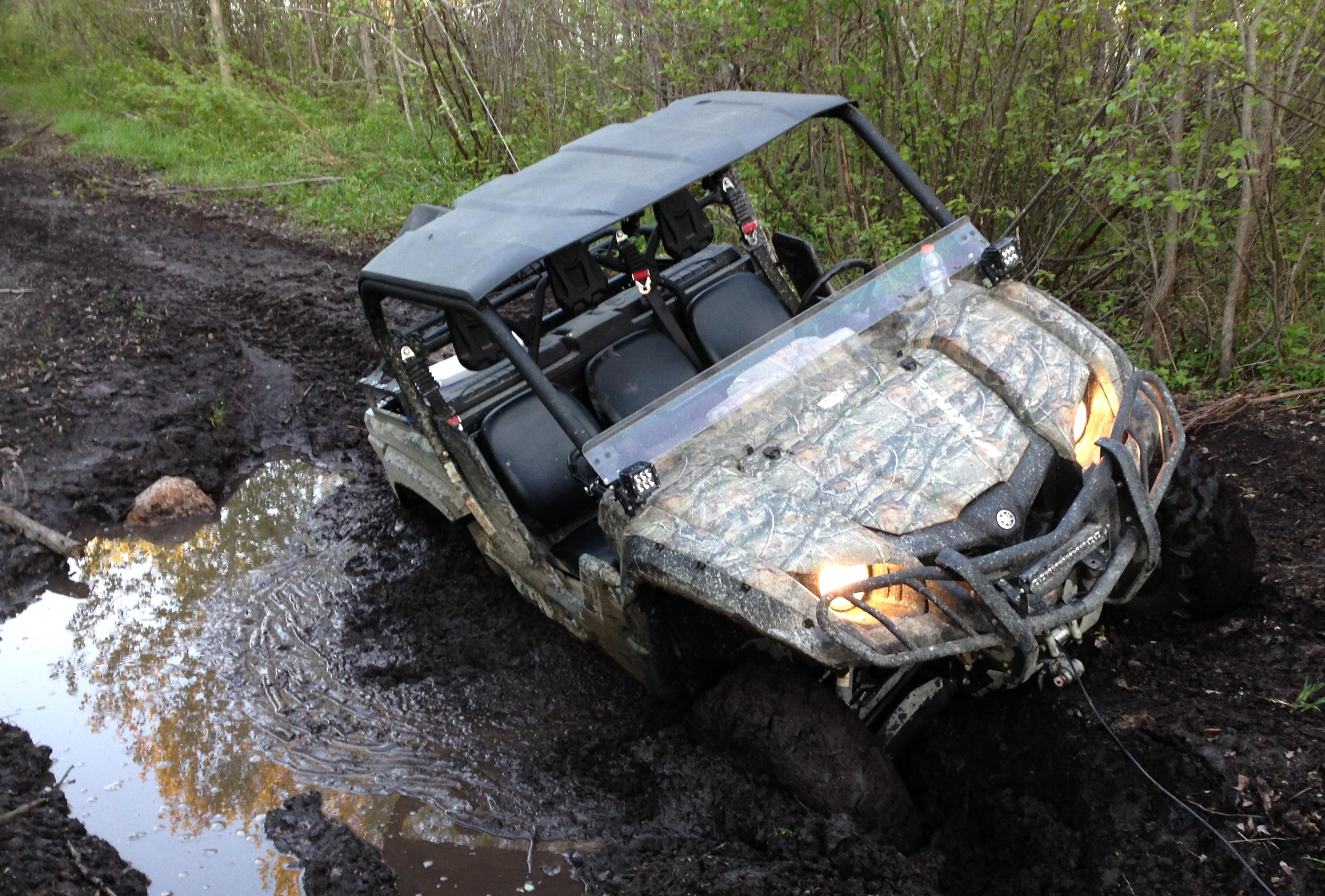 De la boue à souhait! Mais pas dans tous les sentiers, bien sûr! Photo : Guylaine Tremblay
