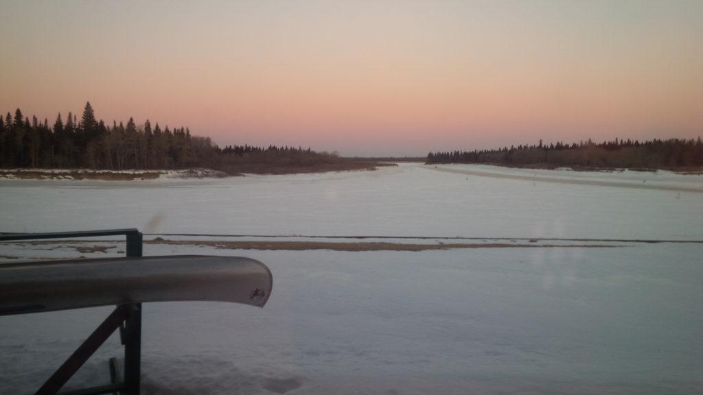 Arrivée à la rivière Moose. Photo : Mario Villeneuve